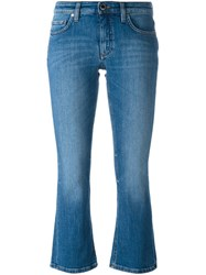 Victoria Beckham Cropped Bootcut Jeans Blue