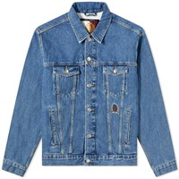 Tommy Jeans Hilfiger Collection Crest And Flag Denim Jacket Blue