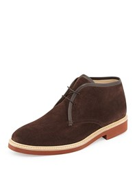 Suede Chukka Boot Brown Ermenegildo Zegna Blue