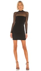 Nookie Poison Long Sleeve Mini Dress In Black.