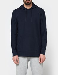 Reigning Champ Raglan Pullover Hoodie Twill Jersey In Navy
