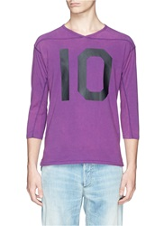 Scotch And Soda 'Vintage' Cotton Jersey Baseball T Shirt Purple