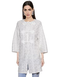 Ermanno Scervino Embroidered Double Lace Coat