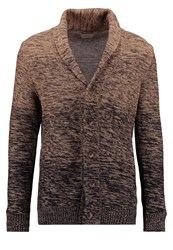 Selected Homme Shxelliot Cardigan Tigers Eye Black Camel