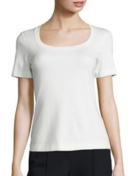 Escada Short Sleeve Jersey Tee Natural