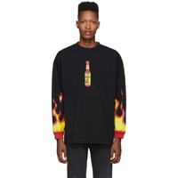 Vetements Black Hot Sauce T Shirt
