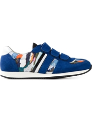 Carven Abstract Print Panelled Sneakers