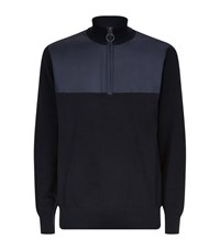Barbour Spruce Half Zip Sweater Male Navy