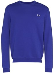 Fred Perry Logo Tape Sweatshirt Blue