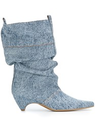 Stella Mccartney Denim Boots Blue