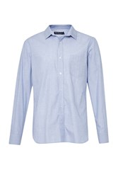 French Connection Men's Peached End On End Connery Shirt Blue