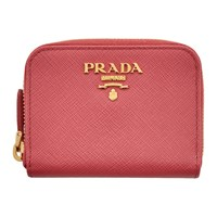 Prada Pink Mini Zip Around Wallet