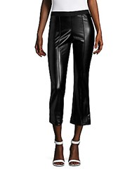 Saks Fifth Avenue Red Faux Leather Standard Fit Pants Black