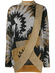 Missoni Printed Wrap Cardigan Grey