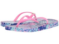 Lilly Pulitzer Pool Flip Flop Twilight Blue Gypsea Girl Sandals Multi
