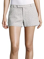 Prose And Poetry Board Printed Cotton Blend Shorts Lilac Cream Combo