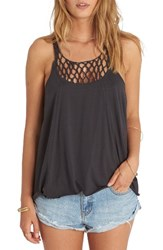 Billabong Women's Knotted Neckline Tank Off Black