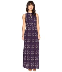 Brigitte Bailey Kaitlin Sleeveless Maxi Dress With Front Keyhole Navy Women's Dress