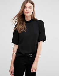 Jdy J.D.Y High Neck Woven Top Black