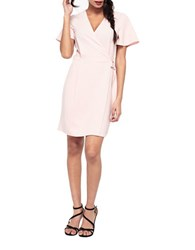 Miss Selfridge Solid Wrap Dress Pink