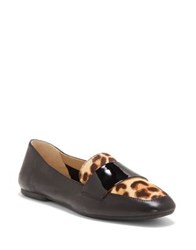 Enzo Angiolini Leann Calf Hair Leather Loafers Natural