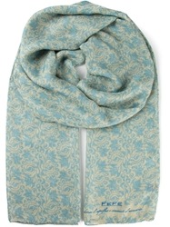 Fe Fe Fefe Floral Patterned Tubular Scarf Nude And Neutrals