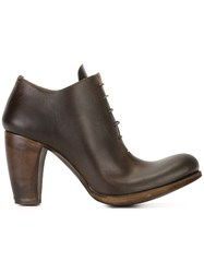 Ma Lace Up Booties Brown