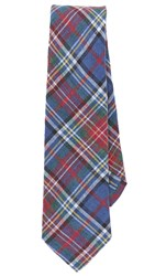 Thomas Mason Plaid Tie Navy Blue
