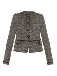 Proenza Schouler Collarless Tweed Jacket