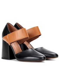 Marni Two Tone Leather Pumps Black