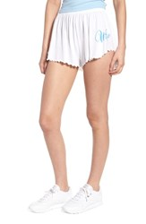 Wildfox Couture Wife Shorts Clean White