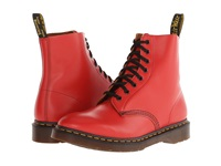 Dr. Martens Pascal 8 Eye Boot Red Vintage Smooth Lace Up Boots Pink