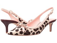 Kate Spade Palina Blush Brown Leopard Haircalf Print Women's Shoes Animal Print
