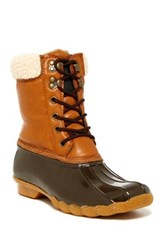 Arctic Plunge Shirley Faux Fur Trimmed Weather Boot Brown
