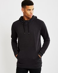 Only And Sons Mens Hoodie With Cut Line Details Black
