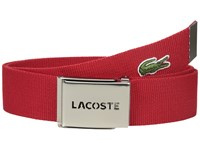 Lacoste 40Mm Gift Box Woven Strap Red Men's Belts
