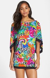 Women's Trina Turk 'Balboa' Cover Up Tunic Multi