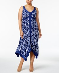Inc International Concepts Plus Size Handkerchief Hem Maxi Dress Only At Macy's Honorable Scroll