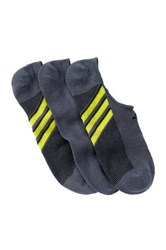Adidas Superlite Climacool No Show Socks Pack Of 3 Men Gray