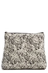 Rvca 'Zander' Print Cotton Canvas Pouch Black Black White