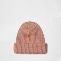 River Island Mens Pink Fisherman Beanie