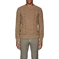 Cifonelli Cable Knit Wool Blend Sweater Lt. Brown Lt.Brown