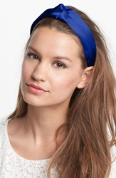 L. Erickson 'Narrow Knot' Turban Headband Blue Ocean