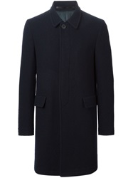 Mauro Grifoni Single Breasted Coat Blue