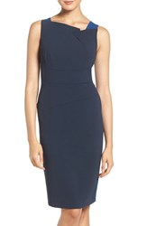 Adrianna Papell Women's Colorblock Stretch Sheath Dress