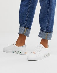 c577a5f88 Ted Baker White Leather Floral Sole Trainers