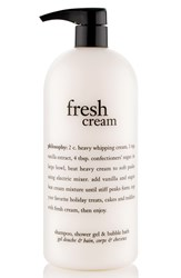 Philosophy 'Fresh Cream' Shampoo Shower Gel And Bubble Bath 16 Oz No Color