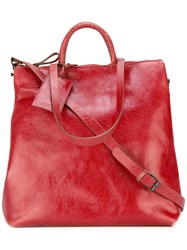 Marsell Multi Strap Tote Red