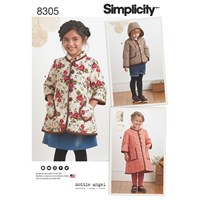 Simplicity Children's Coat And Jacket Sewing Pattern 8305