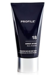 Profile 18 Amber Wood Hydrating Hair And Body Wash 5 Oz. No Color